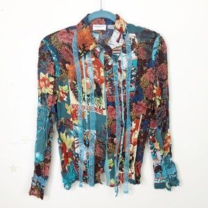 Claudia Richard petite floral graphic shirt